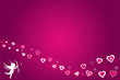 Pink Valentine Hearts Background