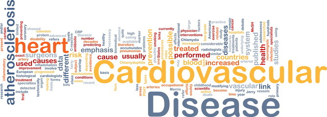 Cardiovascular disease background concept