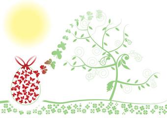 Uova pianta farfalle
