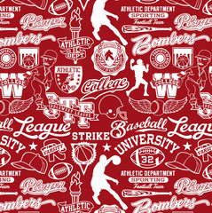athletic department seamless pattern