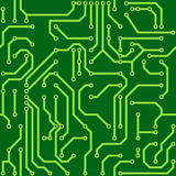 Background with conductor on computer circuit board poster