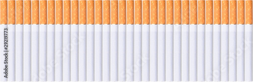 row of cigarettes