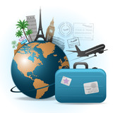 Fototapety Travel background illustration