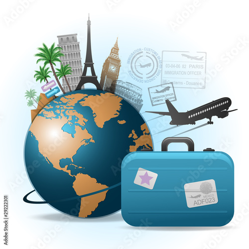 Travel background illustration