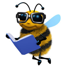3d Bee reads a good book