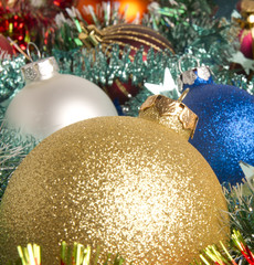 Christmas-tree glass decorations
