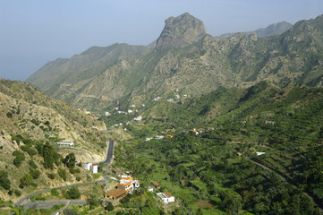 Valley at la Gomera island.
