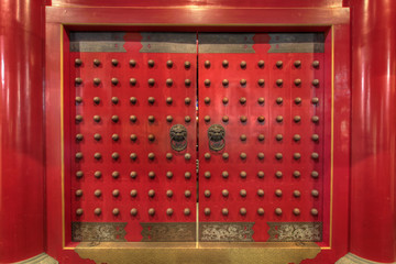 Buddha Tooth Relic Chinese Temple Door