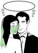 couple sensualité femme voilée