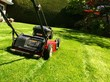 canvas print picture - lawn mowing