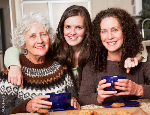 Grandmother, daughter and granddaughter