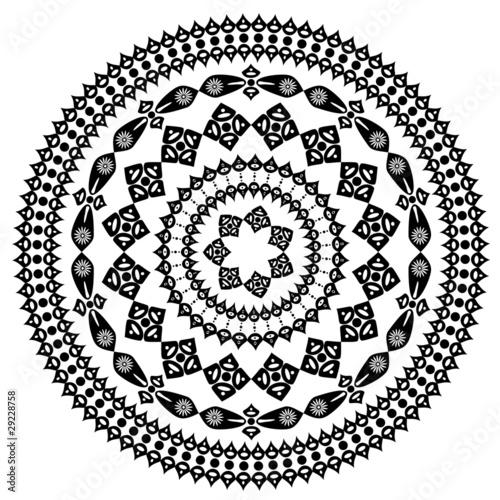 oriental arabesque pattern round - 29228758