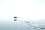 Zen stone thrown on the water