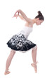 Beautiful young ballerina woman