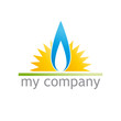 Logo sun and flame gas  # Vector