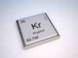 Krypton chemical element of the periodic table with symbol Kr poster