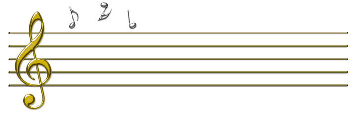note e pentagramma musicale