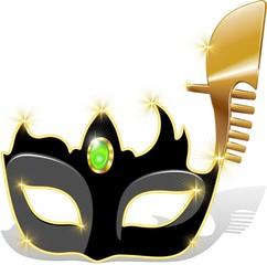 Maschera Carnevale Venezia-Venetian Carnival Mask-2-Vector
