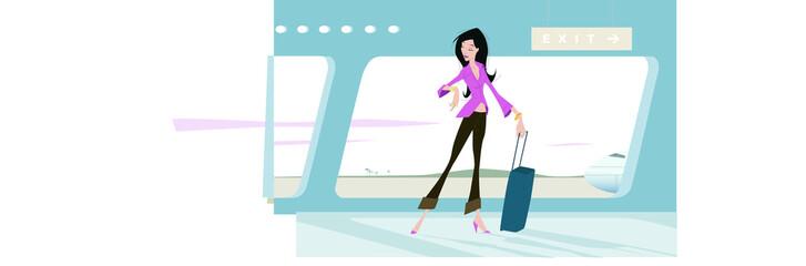 femme aéroport