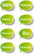 Icones stickers nature