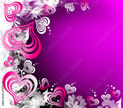 Black And Pink Hearts Wallpaper Valentines Violet Background Lusia