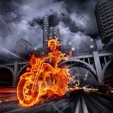 Fototapety Fire biker