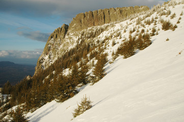 Winter mountains, Creasta Cocosului, Romania