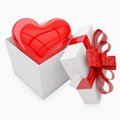valentine's gift with heart inside