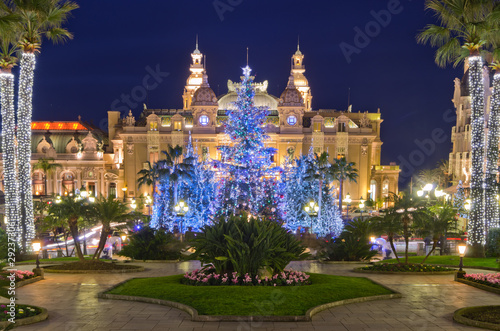 Christmas decorations in Monaco, Montecarlo,France
