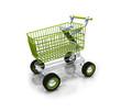 Green bio shopping kart ecology caddy