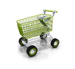 Green bio shopping kart ecology caddy