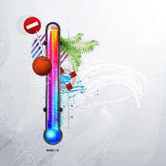 thermometer icon of hot and cold indicator. EPS10