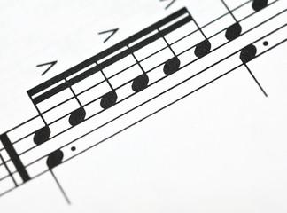 Macro music notes