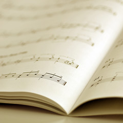 music sheets sepia