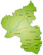 Bundesland Rheinand-Pfalz als Übersicht