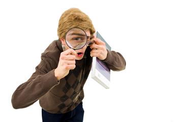 looking nerd, magnifier