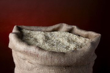 Sack of white rice