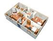 Casa Interno-House Interior-3D-2
