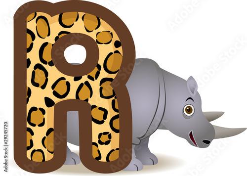 r alphabet animation  Vector: animal alphabet R