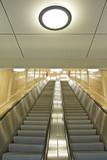 Modern interior with escalator. - 29247348