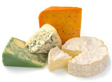 set of cheese with mold and camemberе poster