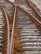 Bahngleise und Weiche