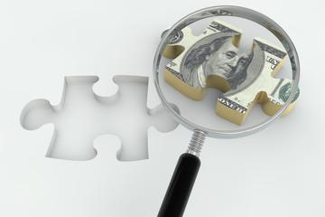 Dollar jigsaw