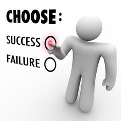 Choose Success Or Failure - Man at Touch Screen