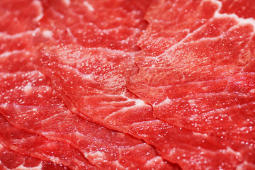 Thin slices of red meat