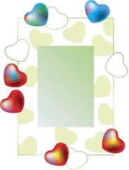 Valentine's frame (green background)