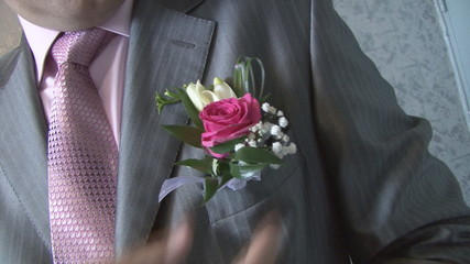 Suit of the groom