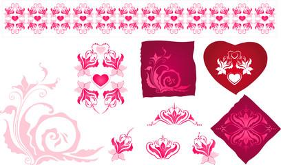 элементы  орнамента к  дню св. Валентина