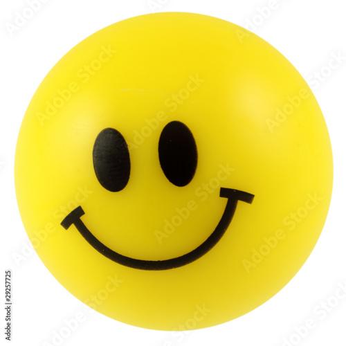 balle en mousse, smiley jaune souriant - 29257725