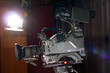 Professional Broadcast Video Camera In Studio